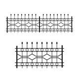 Schmiedeeisen kopierter Zaun Vektor Vektor Abbildung