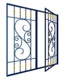 Schmiedeeisenfenstergrill Vektor Abbildung
