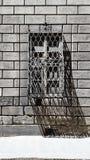 Schmiedeeisenstraßenfenster in Florenz, Italien stockfotografie