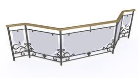 Schmiedeeisentreppengitter Vektor Abbildung