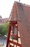 Schmiedeshop-Dachbodenfenster Stockbild
