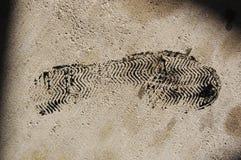 Schmieröl-Abdruck Stockbilder