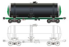 Schmieröl-/Benzintankerauto lizenzfreie abbildung