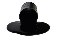 Schmieröl, das von einem Faß leckt Stockfotos