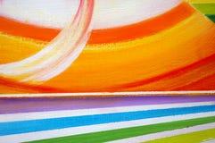 Schmieröl-gemalter abstrakter Hintergrund. Stockbilder