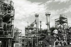 Schmieröl, Kraftstoff und Industrie, Leistung und Energie Stockfotos