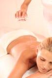 Schmieröl-Massage Lizenzfreie Stockbilder