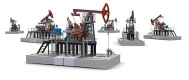 Schmieröl Pumpesteckfassungen steht auf Sätzen Dollar Lizenzfreies Stockfoto