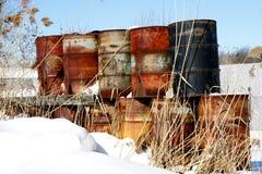 Schmieröl-Trommeln Lizenzfreie Stockbilder