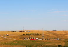 Schmieröl-u. Erdgas-Vertiefung Stockbild
