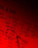 Schmieröl- u. Gasabbildungen lizenzfreie stockbilder