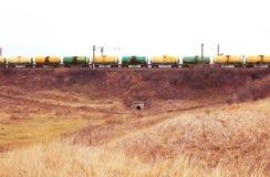 Schmieröl- und Benzinbahnbeförderung lizenzfreie stockbilder