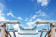 Schmieröl und Erdgasleitungen Stockfoto