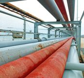 Schmieröl und Erdgasleitungen Lizenzfreie Stockbilder