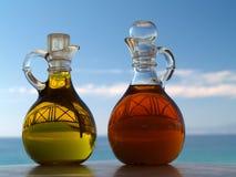 Schmieröl und Essig Lizenzfreie Stockfotos