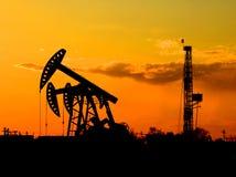 Schmieröl und Gas Stockbild