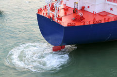 Schmieröl- und Gasindustrie - grude Öltanker Stockbild