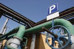 Schmieröl- und Gasrohre Stockbilder