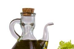 Schmieröl und Kopfsalat Stockfotografie