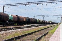 Schmieröl- und Kraftstofftransport. Stockfotos