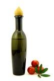 Schmieröl und Tomaten Stockfotografie