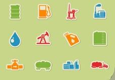 Schmieröl- und Treibstoffindustrienachrichtenikonen Lizenzfreies Stockbild