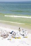 Schmieröl wäscht sich an Land im Pensacola-Strand Lizenzfreie Stockbilder