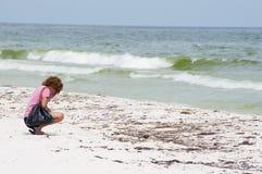 Schmieröl wäscht sich an Land im Pensacola-Strand Stockfoto