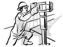 Schmierölarbeitskraft Lizenzfreies Stockfoto