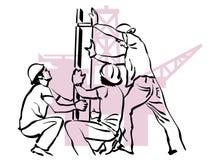 Schmierölarbeitskraft Stockfoto