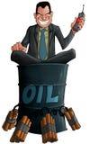 Schmierölkrieg stock abbildung