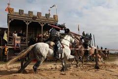 Schmierfilmbildung des neuen Films die Ritter stockfotografie