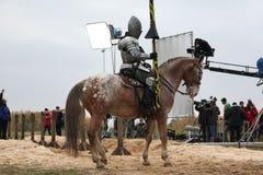 Schmierfilmbildung des neuen Films die Ritter stockbild
