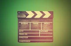 Schmierfilmbildung, Film clapperboard lizenzfreie stockfotos
