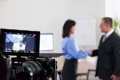 Schmierfilmbildung im Studio Stockfotografie