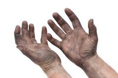 Schmierige Hände Lizenzfreies Stockbild