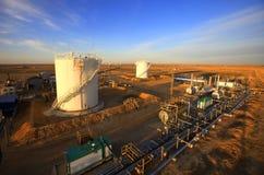 Schmieröl und Gasbehälter Stockfoto