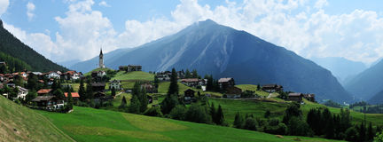 Schmitten. Alpine scenery around Schmitten village - Switzerland Royalty Free Stock Photos