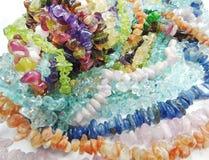 Schmuck semigem Kristall-Perlenschmuck Stockbilder