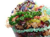 Schmuck semigem Kristall-Perlenschmuck Stockfotos