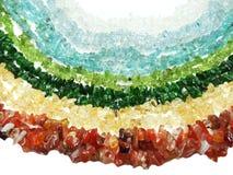Schmuck semigem Kristall-Perlenschmuck Stockbild