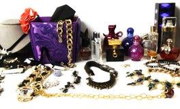 Schmuck und parfumes stockbilder