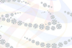 Schmuckdiamanten auf hellem Musterhintergrund Wiedergabe 3d Stockfotografie