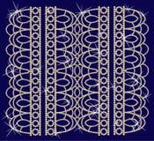 Schmucksachen bildeten ââof Perlen. Stockbilder