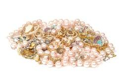 Schmucksachen und Perlen Stockfotografie