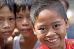 Schmuddelkinder, Manila, Philippinen stockbilder