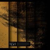 Schmutz-abstrakter Goldhintergrund stock abbildung