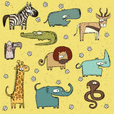 Schmutz-afrikanische Tier-Sammlungs-Nr. 2 stock abbildung
