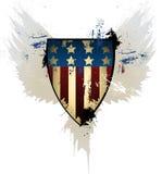 Schmutz-Amerikaner-Schild Stockbild