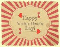 Schmutz-Auslegungs-Valentinsgruß-Tageskarte Lizenzfreie Stockfotografie